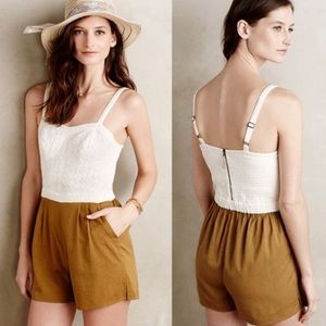 ANTHROPOLOGIE eyelet romper :)